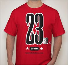 23rd Psalm T Shirt design by James and Mia Best publishers of Big J Books.
