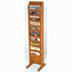 Wooden Mallet Cascade Free Standing 10 Pocket Magazine Rack Medium Oak * See this awesome image : Magazine Holders Magazine Holders, Magazine Rack, Home Organization, Projects To Try, Paper Crafts, Flooring, Pocket, Home Decor, Awesome