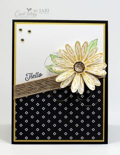 For complete details on creating this card, please visit my blog post: http://cardiologybyjari.com/stampin-daisy-delight-sneak-peek/