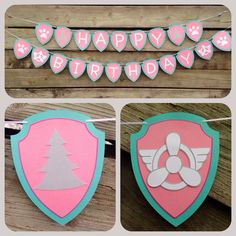 Paw Patrol Skye and Everest birthday banner by 2inspiredcrafters