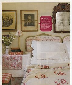 Hydrangea Hill Cottage * The Home and Designs of Christina Strutt * Brook Cottage * Cabbages and Roses Cottage Style Bedrooms, French Country Bedrooms, Cottage Style Decor, Shabby Chic Bedrooms, Cottage Chic, Home Bedroom, Bedroom Decor, Country French, Country Chic