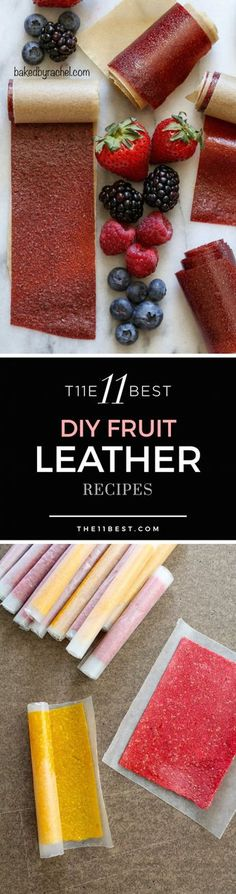 The 11 Best Fruit Leather Recipes DIY Fruit Leather Recipes. How to make a fruit roll up. Raw Food Recipes, Snack Recipes, Cooking Recipes, Dehydrated Food Recipes, Cooking Ideas, Cheap Recipes, Detox Recipes, Soup Recipes, Recipies