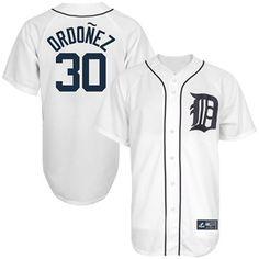 Majestic Magglio Ordonez Detroit Tigers Replica Jersey - White #Fanatic