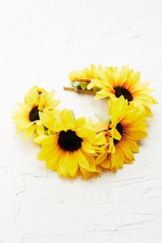 Katie Burley Frida Sunflower Head Crown Perfect for the Bohemian Bride.