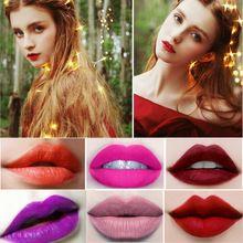 Beleza Labiales Companheiro Sexy Lip Gloss Maquiagem Batom de Longa Duração Batom Matte Maquiagem Cosméticos Lábio À Prova D' Água alishoppbrasil