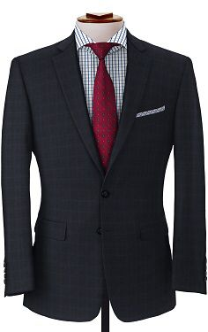 Navy on Blue Check Suit
