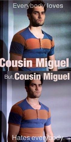 Miguel! Really hoping for more Stiles/Derek scenes next season. They've been lacking since season 2.: