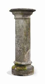 A MARBLE PEDESTAL COLUMN  - From the Dunsborough Park Collection For auction by Christie's 19th-20th June