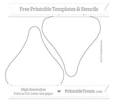 Free Printable Large Chocolate Kiss Template Shapes And Templates