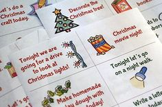 Advent Activity Cards {Free Printable}