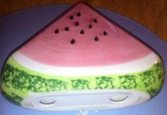 Watermelon Napkin Sponge or Paper Holder by OCVintageArtCouture, $5.00