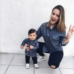 Mom Daughter Matching Outfits, Mom And Baby Outfits, Little Boy Outfits, Matching Family Outfits, Baby Outfits Newborn, Kids Outfits, Kids Fashion Boy, Toddler Fashion, Mommy And Son
