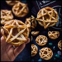 Topped Vegan Apple Pies These are such a good idea for Samhain! Pentagram Topped Vegan Apple Pies These are such a good idea for Samhain! Fete Halloween, Halloween Appetizers, Halloween Treats, Pagan Halloween, Halloween Decorations, Halloween 2019, Yule, Samhain Recipes, Wicca Recipes