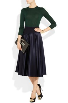 Jil Sander | Music heavyweight satin skirt