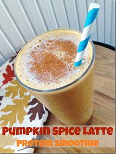 Taking the #PSL to the next level - Pumpkin Spice Latte Protein Smoothie from @CarrotsNCake