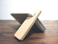new.  iPhone 6 and 6 Plus stand.  cherry wood by yournestinspired