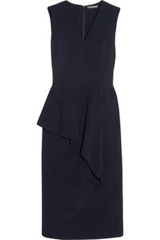 Alexander McQueen Ruffled stretch-crepe dress | NET-A-PORTER