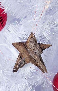 DIY bark star ornaments - Christmas Craft - Tara Dennis