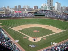 Wrigley Field, Chicago.  Saw the Cubbies play Pittsburgh here in 1988.  Warm day, 2nd row seat behind the plate....what's not to like?