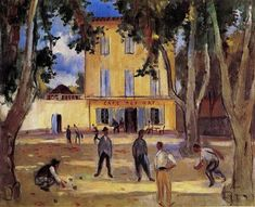 Charles Camoin, St Tropez, la place des Lices et le café des Arts on… Raoul Dufy, European Paintings, Classic Paintings, Saint Tropez, Henri Matisse, Art Fauvisme, Chaim Soutine, Color Secundario, Gauguin