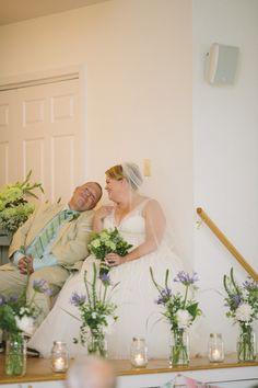 Stone Harbor Florist - A Garden Party florist - Saltwater Studios - beach wedding - white wedding flowers - green wedding flowers - vintage - Women's Civic Club - floral backdrop - floral cuffs