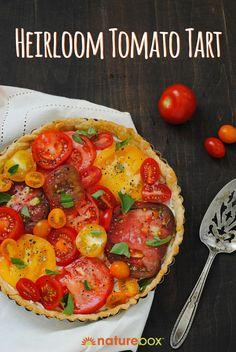 ... : Apps on Pinterest | Heirloom tomato tart, Garlic hummus and Ricotta