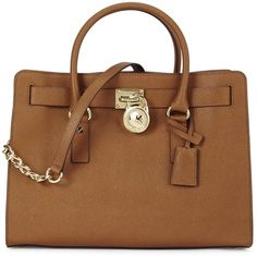 Womens Shoulder Bags Michael Kors Hamilton Brown Saffiano Leather Tote ($185) ❤ liked on Polyvore featuring bags, handbags, tote bags, purses, saffiano leather handbag, michael kors purses, brown tote bag, saffiano leather tote and michael kors tote bag