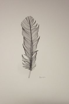 inspiration feather drawing: back of neck tattoo! Raven Feather, Feather Art, Feather Tattoos, Feather Drawing, Black Feathers, Future Tattoos, Art Drawings, Art Photography, Sketches