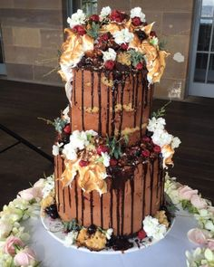 The Snickers-like Karl cake by Andy Bowdy Pastry is named after a friend who was getting married (and in fact, was made originally as a wedding cake).