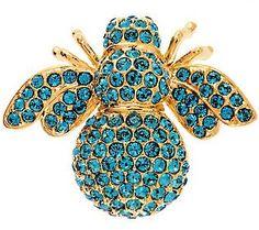 Joan Rivers Pave Birthstone Bee Pin