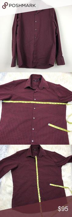 ec7b076ba Hugo Boss button down dress shirt / 2 ply Hugo Boss button down shirt 2 ply