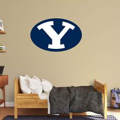 12 Inch BYU Cougar Pennant Logo Decal Brigham Young University Cougars Removable Wall Sticker Art NCAA Home Room Decor 11 1//2 by 4 1//2 Inches