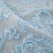 This is pretty.  44.99 per yard.  It's light blue not robins egg blue