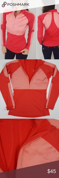 Nike pro half zip size medium- B3 Nike pro half zip long sleeve top, size medium. Thumb holes in sleeve. Fitted, stretch material.  Used item, pictures show signs of wear and use. Bundle up! Offers always welcome!:)  Shop my husband's closet!: @kirchingeraaron Nike Tops Tees - Long Sleeve