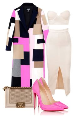 pink  tan by minkstyles on Polyvore featuring polyvore fashion style MSGM Christian Louboutin Chanel