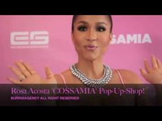 Rosa Acosta 'Pretty in Pink' COSSAMIA Pop-Up-Shop on Melrose Ave