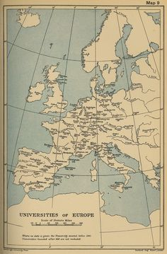 Universities of Europe founded before 1618