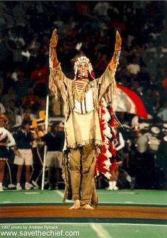 Chief Illiniwek , mascot of the University of Illinois