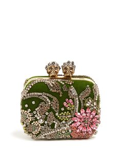 GABRIELLE'S AMAZING FANTASY CLOSET | Alexander McQueen Queen and King Skull Crystal-Embellished Clutch | You can see the rest of the Outfit and my Remarks on this board. - Gabrielle