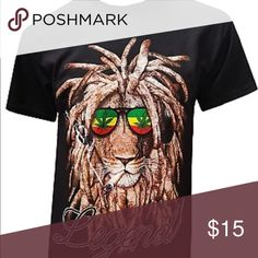 Rasta Shirt Men's shirt for marijuana smokers Shirts Tees - Short Sleeve