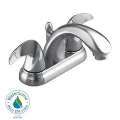 Swan 4 in. Centerset 2-Handle Bathroom Faucet with Drain in Satin Nickel-6013S at The Home Depot