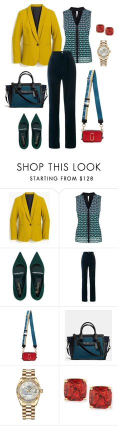 """""""Business Casual #11"""" by mary-en ❤ liked on Polyvore featuring J.Crew, Karen Millen, Gucci, Marc Jacobs, Rolex, Kate Spade and business"""