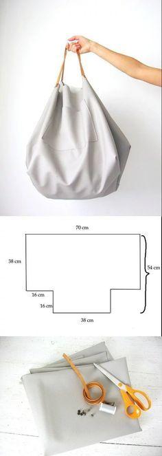 Sewing bags tutorial handbags tuto sac 55 ideas for 2019 Diy Bags No Sew, Diy Bags Patterns, Purse Patterns, Sewing Patterns, Diy Pochette, Diy Bags Purses, Women's Bags, Diy Handbag, Simple Bags