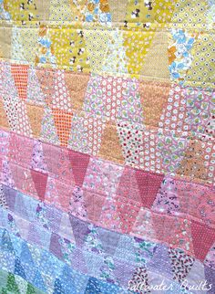 rainbow 30's reproduction tumbler quilt