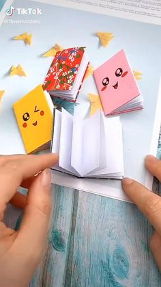 Cool Paper Crafts, Paper Crafts Origami, Diy Paper, Fun Crafts, Origami Gifts, Oragami, Origami Easy, Summer Crafts, Tissue Paper