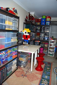 Lego storage - workspace Avone Mobley! This made me think of your boys,