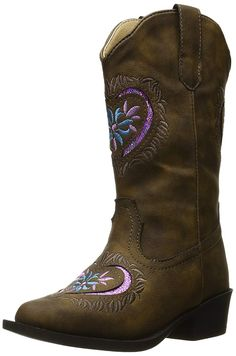 Roper Daisy Heart Western Boot (Toddler/Little Kid) -- Read more at the image link. (This is an affiliate link) Western Boots, Cowboy Boots, Kid Check, Girl Boots, Kids Reading, Westerns, Daisy, Image Link, Heart