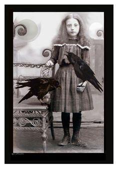 """Artist is Kathryn LeMieux - Image title """"Flora's Ravens"""""""