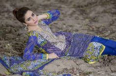 Creations Purple Lawn Spring Summer Dresses 2016