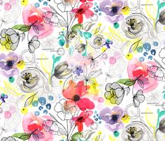 SpringGardenBotanical fabric by olivia_henry on Spoonflower - custom fabric